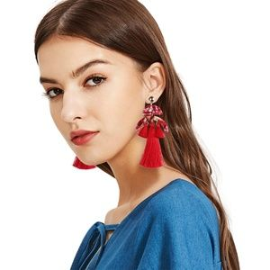 Bohemian Style Pierced Earrings